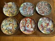 Franklin Mint Heirloom Cat Collector 6 Plates By Bill Bell Limited Edition