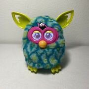 Furby Boom Peacock Turquoise Teal Neon Green 2012 Hasbro Tested Interactive Toy