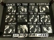 Very Rare Virgin Vs 184 Framed Sex Pistols Andlsquopretty Vacantand039 Punk Poster With Coa