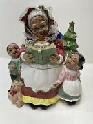 Omnibus By Fitz And Floyd Cookie Jar…1993…christmas,mr.claus.