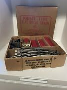 Vintage Louis Marx And Co. Diesel Type Electrical Train Set No. 7674 In Orig. Box