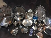 ☆22pcs Silver/ Sil Plated Collectors Lot Gorham, Ggwands, Valentine Linsley,+more