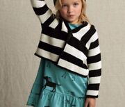 Tea Collection Girls 4-5 Striped Cardigan Corp Sweater