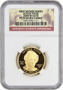 2009-w Letitia Tyler 10 Ngc Pr 70 Dcam - First Spouse .999 Gold