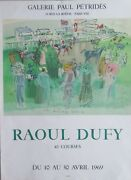 Raoul Dufy 1877-1953 Original Limited Edition Lithograph Epsom 1939 Signed