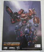 Sdcc Comic Con 2012 Exclusive Transformers Fall Of Cybortron Poster Prime Vhtf