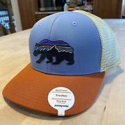Fitz Roy Bear Trucker Hat - New With Tags - Railroad Blue - 2018