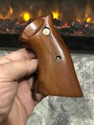 Vintage Factory Smith And Wesson K L N Frame Target Grips Rosewood