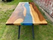 60 X 32 Epoxy Resin Wooden Center Dining Table Top Furniture Decor