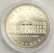 1792-1992 S Us Mint White House 200th Commemorative Silver Dollar, Proof