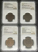 1902-19 China Mixed Provincial Copper Coins 4 Pieces. All Ngc. Some Mint Errors