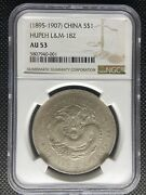 1895-07 China Hupeh Dollar Silver Coin Lm-182 Y-127.1 Ngc Au-53