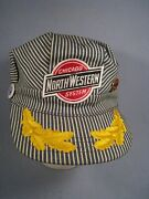 Vintage Chicago And Northwestern System Railroad Snapback Hat With 2 Pins