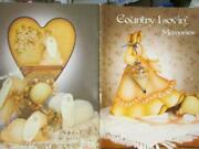 Country Lovinand039 Memories Painting Book-mcclure-lady With Umbrella/reindeer Sleig