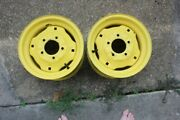 Rear Rims 2 For John Deere 425 Lawn Tractor And Others Great Condition