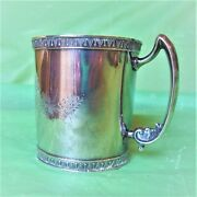 Ca 1880 Ornate Antique Sterling Silver Baby Cup 92.8 Gr M.w. Shaw Eveline Xlnt