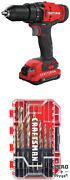Craftsman V20 Cordless Drill/driver Kit With Drill Bit Set, Gold Oxide, 14-piece