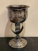 Antique Wood And Hughes Sterling Silver 641 Grams Pigeon Champion Trophy Ny 1892