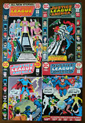 Justice League Of America 100 101 102 107 - Lot Of 4 Crisis On Earth X Jsa 1972