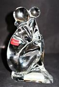 Baccarat Crystal Tenderness Mother And Child Figurine Statue 6 Tall