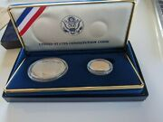 United States Constitution Coins 1987 - Silver Dollar And Gold Five Dollar