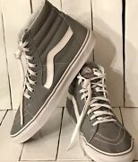 Off The Wall Grey White Menand039s Size 12 Hi Top Skateboard Shoes Sneakers