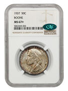 1937 Boone 50c Ngc/cac Ms67+ - Silver Classic Commemorative