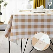 Vinyl Tablecloth Rectangle Waterproof For Outdoor Picnic Camping 60x72 Inch
