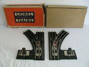 Prewar Lionel Trains Standard Gauge Electric Right And Left Switches 223 Ex