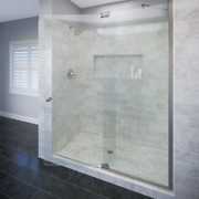 Basco Cantour 42-1/16- 48 Glass Shower Door And Panel, 3/8 Clear Glass With Aqu