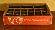 Early Royal Crown Cola Wooden 24 Section Soda Pop Bottle Crate Carrier-style 3r