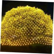 360 Leds Christmas Net Lights, 12ft X 5ft 8 Modes Low Voltage Warm White