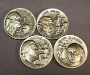 4.48 Oz 925 Sterling Silver Rounds - Wittnauer Pmg President High Relief - F2444