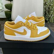 Nike Air Jordan 1 Low And039pollenand039 Size 9 Style 553558-171