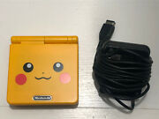 Gameboy Advance Sp 101 Pikachu Shellbrand New Batterywith Charger