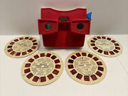 Vintage 1970andrsquos Viewmaster Lot Usa Winnie Pooh Bambi Donald Duck Peanuts Reels