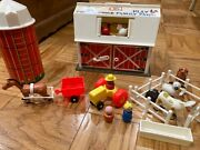 Vintage 1967 Fisher Price 915 Little People Play Family Farm Barn Excellent Cond