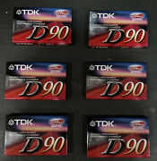 6 Lot Tdk D 90 Blank Cassette Tape High Output Type 1 New Sealed