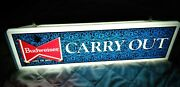Vintage Budweiser Lighted Carry Out Sign 22 Union Label Breweriana