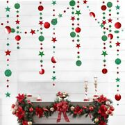 Christmas Ornaments Circle Star Twinkle Garland New Year Decor Hanging Pendant
