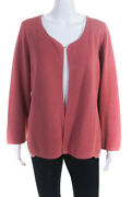 Eileen Fisher Womens Open Front Cardigan Pink Size Extra Large