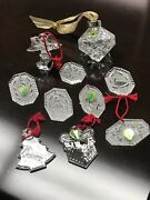 Waterford Crystal Christmas Ornament Lot
