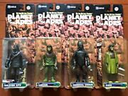 Planet Of The Apes Action Figure Set Of 4 [soldier, General, Zira, Lucius] G6701