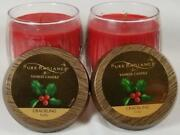 Pure Radiance By Yankee Candle Crackling Holly Small Jars 7 Oz Red Lot Of 2