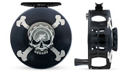 Abel Sdf Fly Reel Solid - Skull And Crossbones - 6/7 Wt With Ebony Handle
