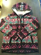American Eagle Outfitters Womens Jacket L Large Multicolor Full Zip Hoodie Aztec