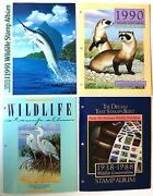 4 Mint National Wildlife Federation Stamp Sheets And Album 1991 1990 1989 1988