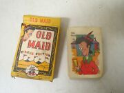 Vintage 1947 Old Maid Card Game Circus Edition Ed-u-cards Unused W/ Instructions