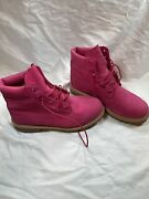 Juniors Womenandrsquos Waterproof Boot Pink Nubuck A1fn2 Size 7