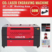 Omtech 60w 20x28 Workbed Co2 Laser Engraver Engraving Machine Rotary Axis C